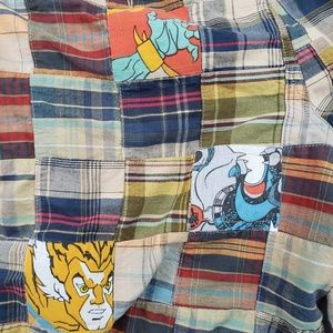 Izod Shorts - Izod Chino Plaid Shorts Thundercats Patch